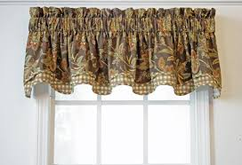 Lime Green Valance Scalloped Valances Patterned Solid Colored Double