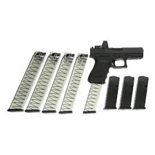 glock 19 mos gen 4 9mm pistol 4 01 u0027 u0027 barrel with trijicon rm06 red