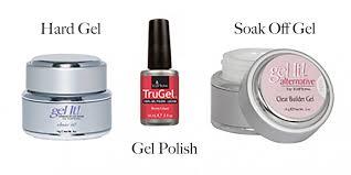 the difference between hard gel soak off gel gel polish