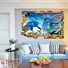3d shark kids wall stickers art u0026 craft online store