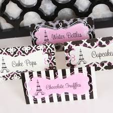 bridal shower party supplies bridal shower theme parisian theme bridal shower
