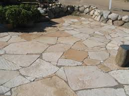 Flagstone Pavers Patio Floor Awesome Flagstone Patio With And Potted Plants Plus
