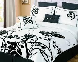 Cream And Black Comforter Duvet Dark Set Home Design Ideas Dark King Comforter Sets Purple