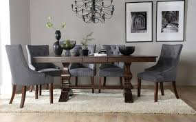 dark brown round kitchen table round dining table with upholstered chairs developerpanda