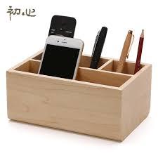 maple wooden storage box 4 holes gome wood small box desktop