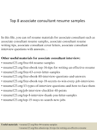 Sample Consulting Resume Mckinsey by Top8associateconsultantresumesamples 150331220814 Conversion Gate01 Thumbnail 4 Jpg Cb U003d1427857741
