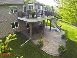 Stamped Concrete Patio Maintenance Custom Low Maintenance Deck Colored Concrete Patio And