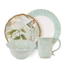 toulouse bird dinnerware floral decor fitz and floyd