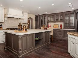 white oak wood red prestige door two color kitchen cabinets