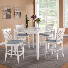 Best White Bar Height Table And Chairs  With Additional Home - Bar height dining table white
