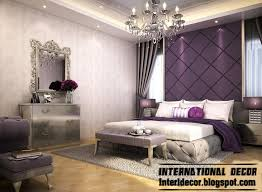 Contemporary Bedroom Design And Purple Wall Decoration Ideas - Bedroom design purple