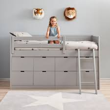 Children Beds Kids Cabin Bed With 8 Drawers And Ladder Nursery Pinterest