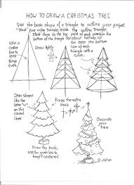 how to draw a christmas tree worksheet read the notes at the blog