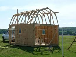 Hip Roof Barn Plans Gambrel Shed Plans 16x24 Jump To Next Level