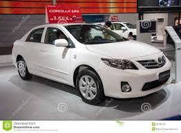 toyota international white toyota corolla car editorial stock photo image 39790133