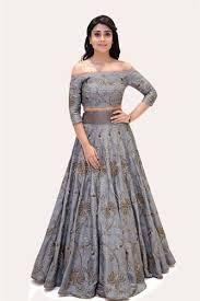 grey colour designer grey colour lehenga designer chaniya choli laxmi