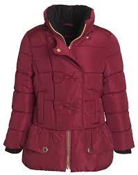 sportoli kids girls u0027 fleece lined hooded puffer coat fashion
