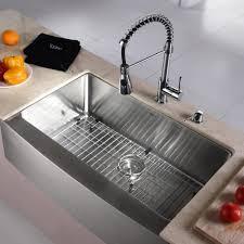 graff kitchen faucet kraus khf20033kpf1612ksd30ch 33 inch farmhouse single bowl