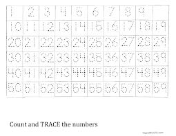 trace the number 1 59 worksheet homeschool pinterest number