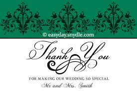 Words For Wedding Thank You Cards Wedding Thank You Card Wording Samples Easyday
