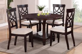 Espresso Dining Room Furniture by Round Dining Set Lalo U0027s Furniture
