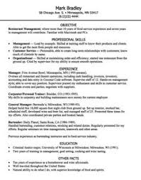restaurant manager resume example resume examples resume and