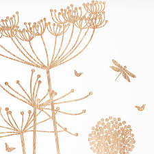 Wood Wall Stickers by Wood Print Cowparsley Wall Stickers By Funky Little Darlings