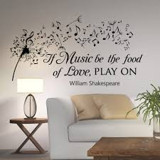 amazon com dandelion wall decals quotes music notes vinyl amazon com dandelion wall decals quotes music notes vinyl lettering if music be the food of love play on william shakespeare wall decal quote q001