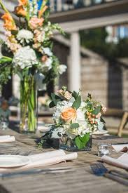 rustic gray and peach wedding at the millenium gate museum in