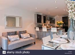 kitchen show show home kitchen diner with sofa stock photo royalty free