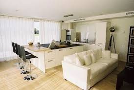 open plan small kitchen living room