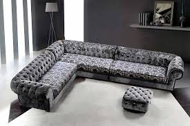 Gray Sofa Living Room by Black Grey Sofa With L Shaped Has Bench On White Ceramic Flooring
