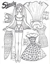 coloring prince princesses paper doll free printable