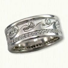 wedding bands raleigh nc 14kt white gold custom waves wedding band with diamonds regular