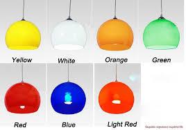 Green Pendant Lights 100 240v 20cm Acrylic Pendant Light Red Green Yellow White Orange