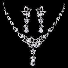 cubic zirconia necklace sets images Floral cz cubic zirconia necklace set jpg