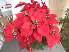 poinsettia silk flowers ebay