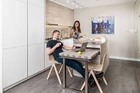 this clever condo is loaded with transforming small space furniture