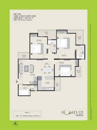 1400 Sq Ft by Homes 121 Floor Plan Sector 121 Noida