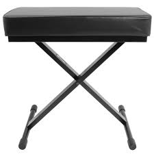 chase keyboard piano bench stool drum throne black seat padded