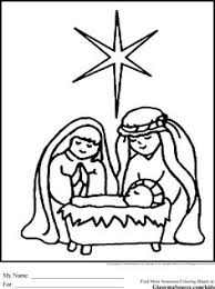 christmas nativity printables scene lds primary bible