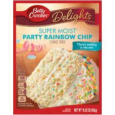 betty crocker super moist cake mix party rainbow chip 15 25 oz