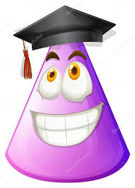 purple graduation cap purple cone with graduation cap stock vector blueringmedia