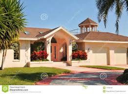 modern ranch style home with gazebo stock images image 17929184
