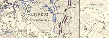 map of leipzig battle of leipzig 16 19th october 1813 sheet 2 saxony germany