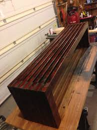 Bathroom Benches 6 Foot Bench Made From 2x4 U0027s And 1x4 U0027s Very Easy Project To Do In
