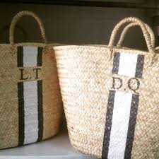 monogrammed basket 38 best monogram baskets images on basket