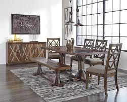 Dining Room Side Chairs Devasheen Rectangular Dining Room Table 4 Uph Side Chairs