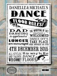 personalised chalk rules of the dance floor sign banner buy any 3