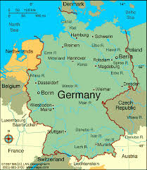 map of germany and surrounding countries with cities map of germany with cities map of germany showing bundesländer